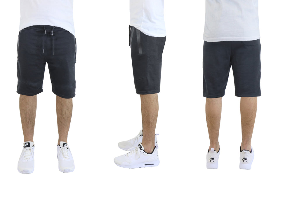 Men's French Terry Shorts with Zipper Pockets