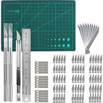 105 Pieces Craft Hobby Scrapbooking Knife Set with Cutting Board