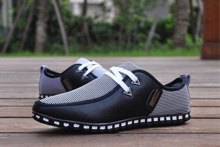 Casual Breathable Lace Up Slip-On Loafers