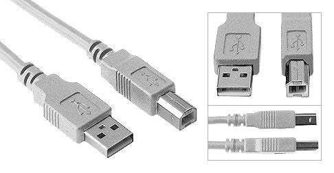 BYTECC 6ft USB 2.0 Shielded High Speed Type A Male to Type B Male Printer Cable