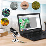 1000X Portable Digital USB Microscope with 8 LED Lights - For Mac & PC