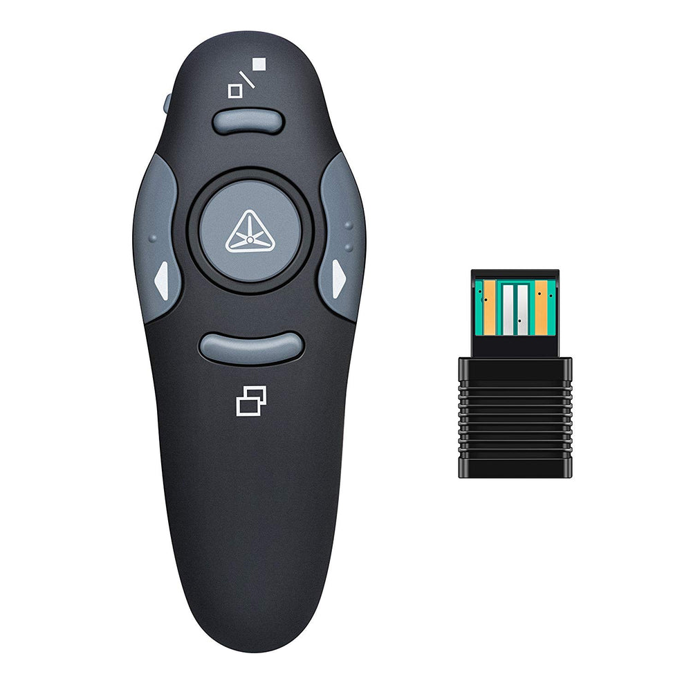 Wireless USB Presenter PowerPoint Remote Control with Laser Pointer