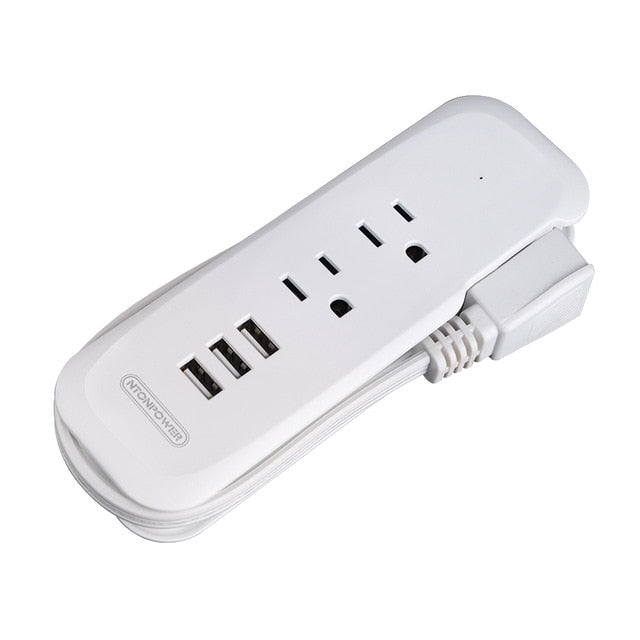 Mini Desktop Travel Power Strip with USB