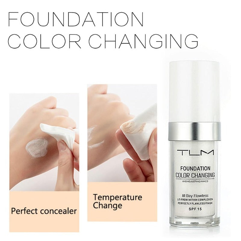 1oz Long-Lasting Color Changing Foundation Makeup Base Liquid Cover