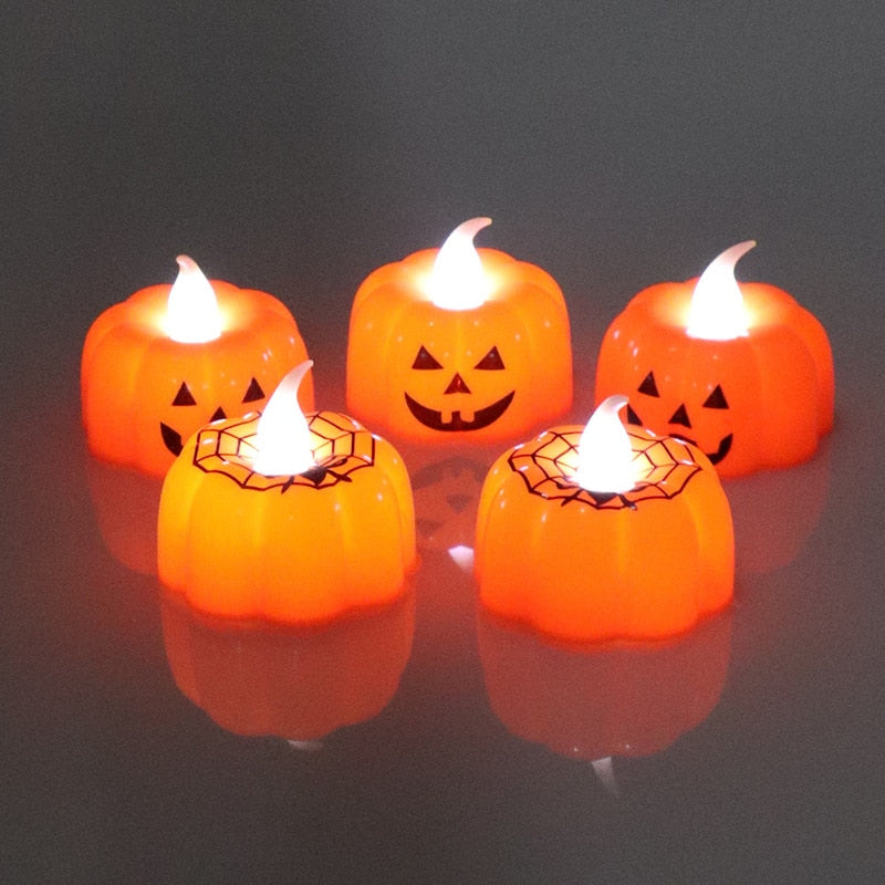 Pumpkin Candle Tea Lights Decorations