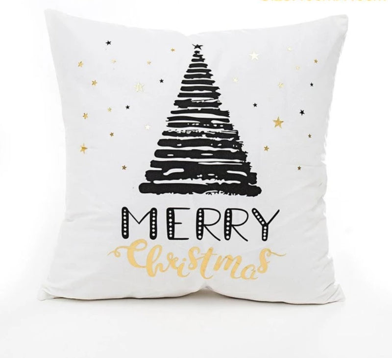 Holiday Cotton Linen Pillow Cover