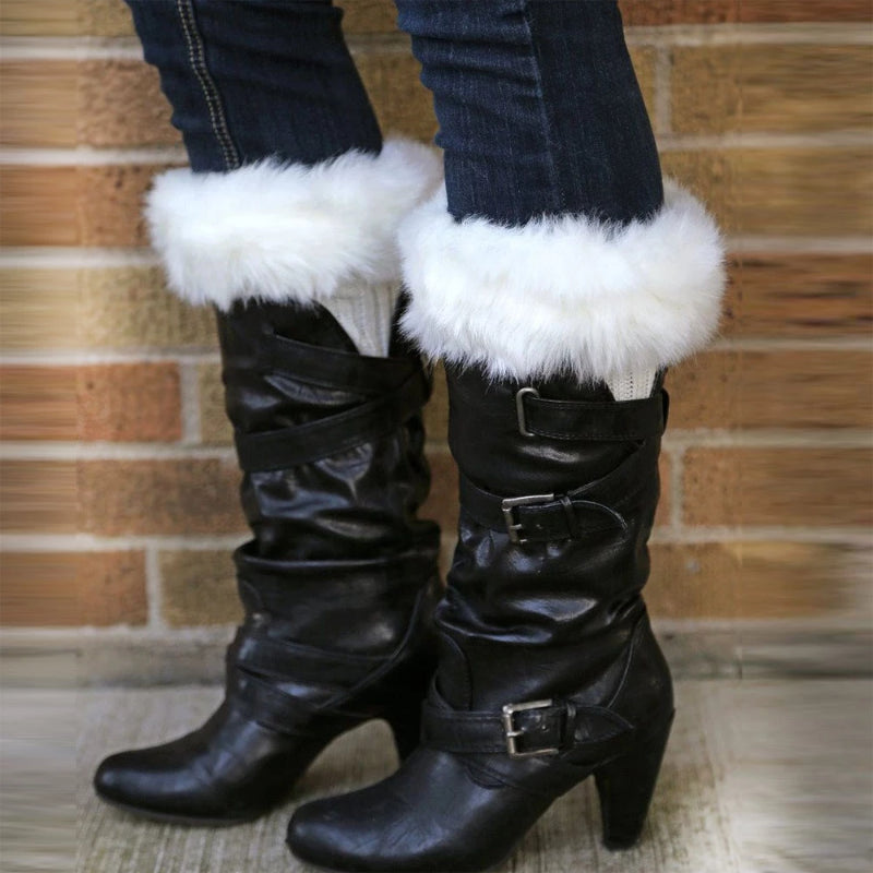 Women's Winter Soft Faux Fur Leg Warmer Boot Cuffs