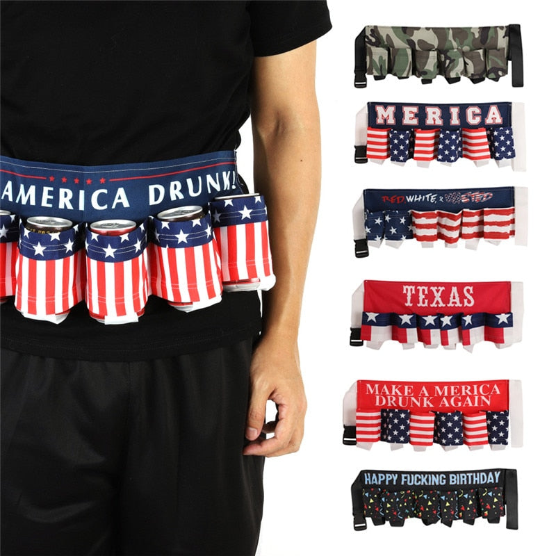 Portable Beer 6pk Waist Belt