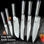 6 pc Stainless Steel Kitchen Knives Set