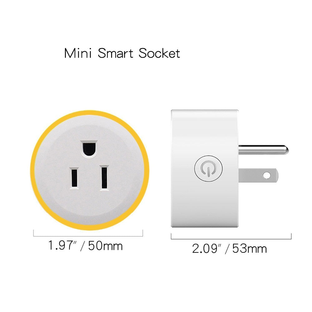 WiFi Switch Mini Wireless Remote Control Outlet Socket Plug