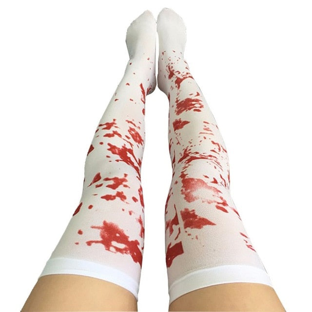 Halloween Over the Knee Extra Long Stockings