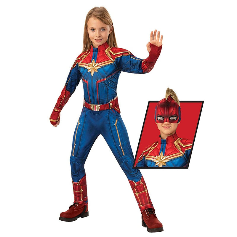 Girl's Captain Marvel Superhero Halloween Costume