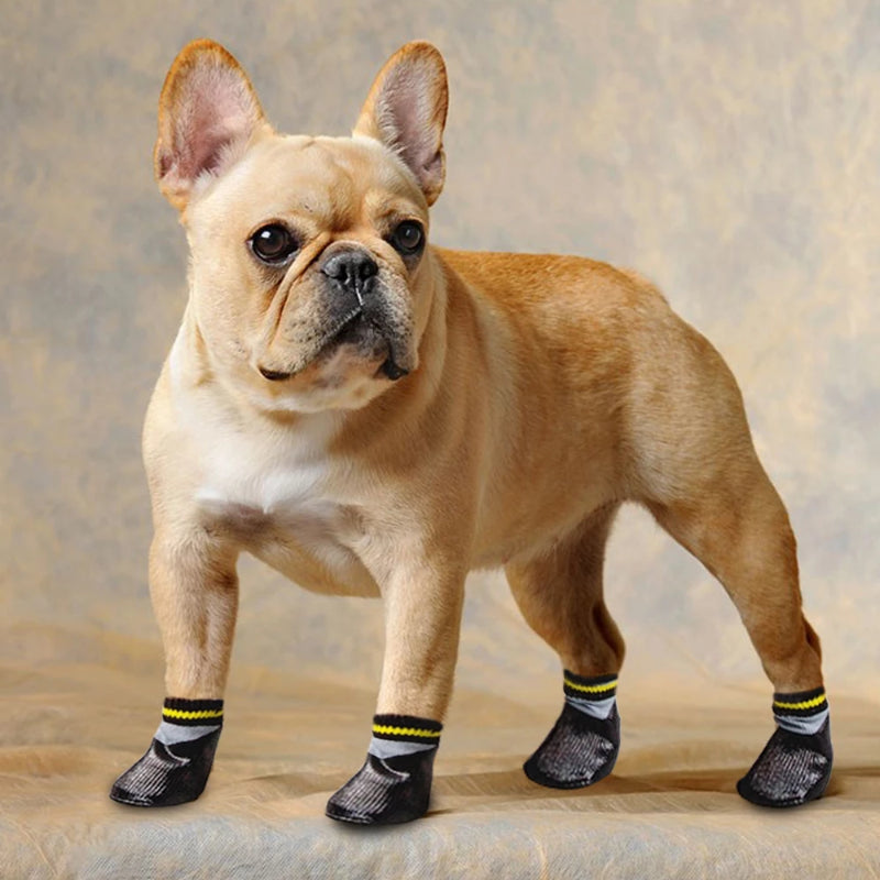 4pcs Set Outdoor Waterproof Nonslip Dog Cat Sock Booties Shoes