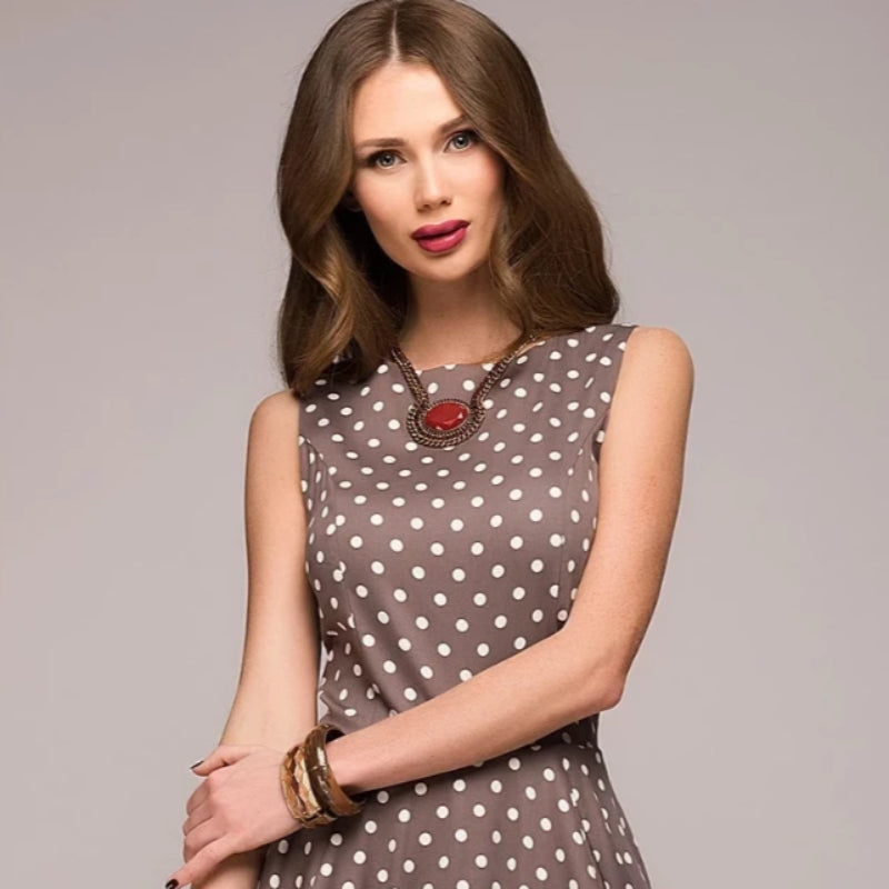 Women's Vintage Style Sleeveless Summer Dress