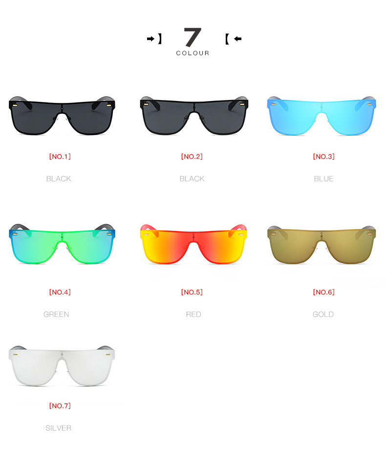 Women's Rimless Alloy Frame UV400 Sunglasses