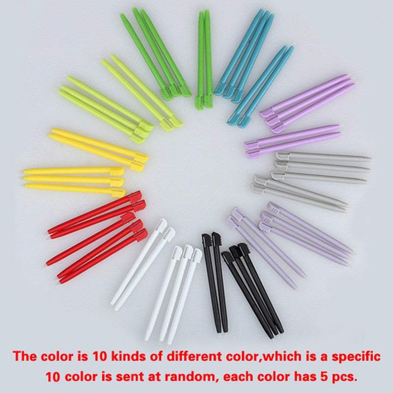 50pcs/pack Stylus Pen 8.5cm Muti-color Plastic Touch Stylus Pen Game Accessories For Nintendo DS Lite (Colors by Random)