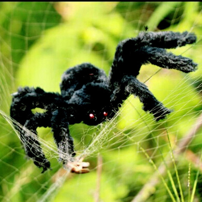 Halloween Plush Spider Decoration