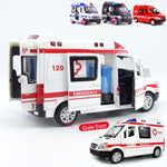 1:32 Diecast Metal Ambulance Emergency Model Car Truck