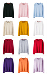 Women's Cashmere Slim Fit Knitted Pullover Sweater