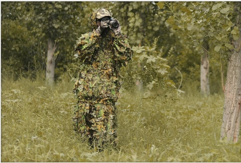 3D Maple Leaf Bionic Camouflage Ghillie Suit