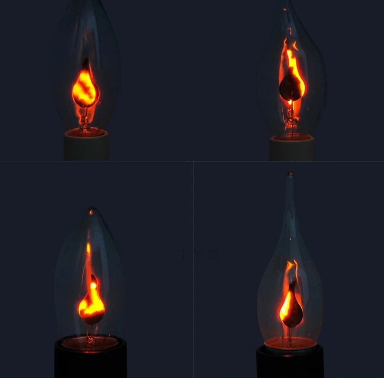Edison Style Flicker LED Candle Light Flame Bulb