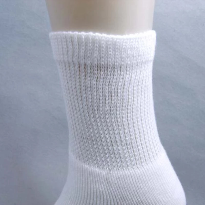 5 Pairs Cotton Loose Crew Cuff Thick Socks