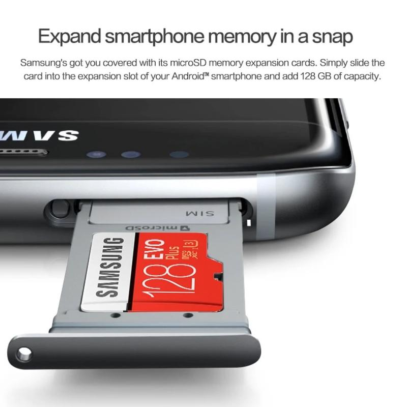 Samsung Evo Plus Class 10 Memory 64GB - 128GB - 256GB High Speed 100 MB/S Micro SD Card