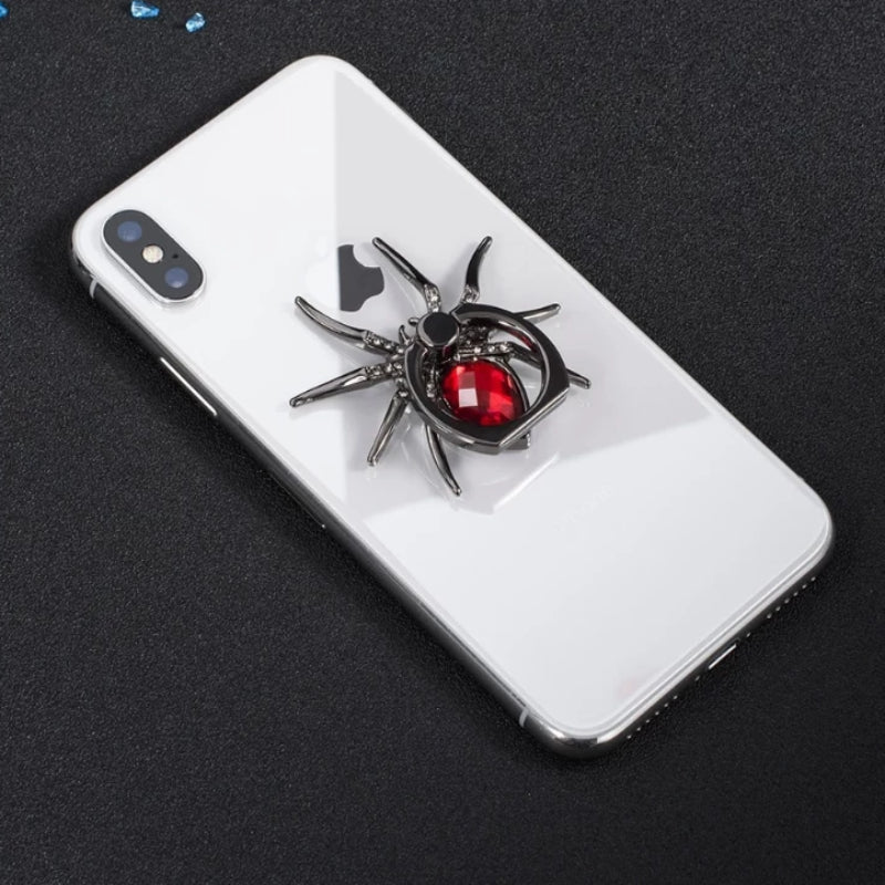 Universal Luxury Metal Spider Bling Finger Ring Holder