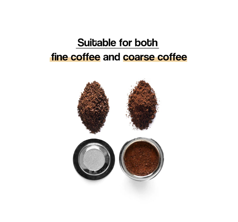 Types of Coffee for Nespresso Refillable Stainless Steel Capsule