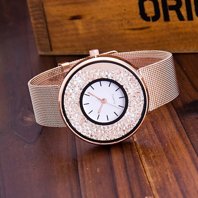 Women's Stainless Steel Quartz Dress Watch