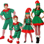 Kids and Adult Christmas Elf Halloween Costume