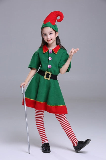 Male Christmas Elf Halloween Costume