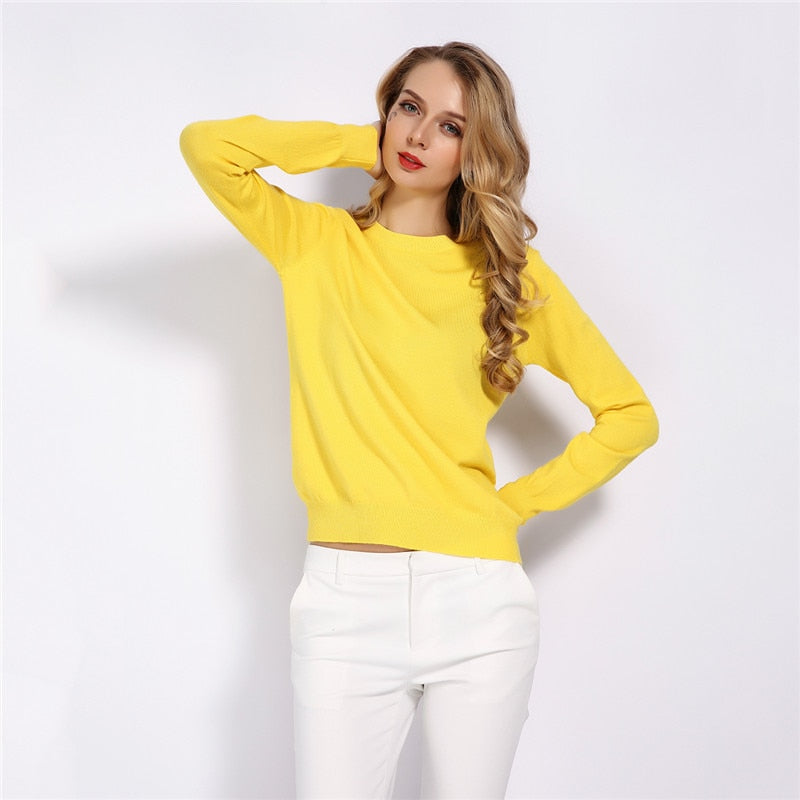 Women's Soft Stretch Knit Pullover Sweater