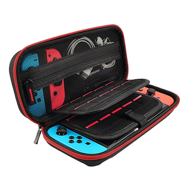 Red Portable Hard Shell Case for Nintendo Switch
