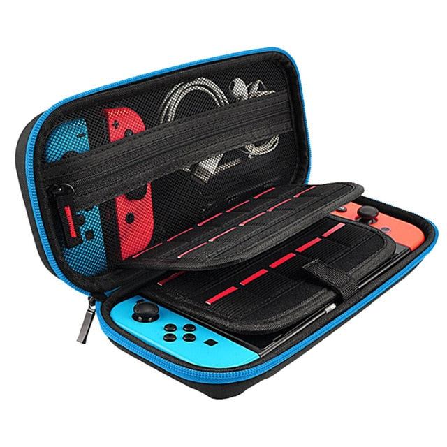 Blue Portable Hard Shell Case for Nintendo Switch