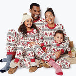 2 PCS Christmas Family Matching Cotton Pajamas