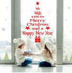 Wall Window Christmas Stickers Decorations For Home