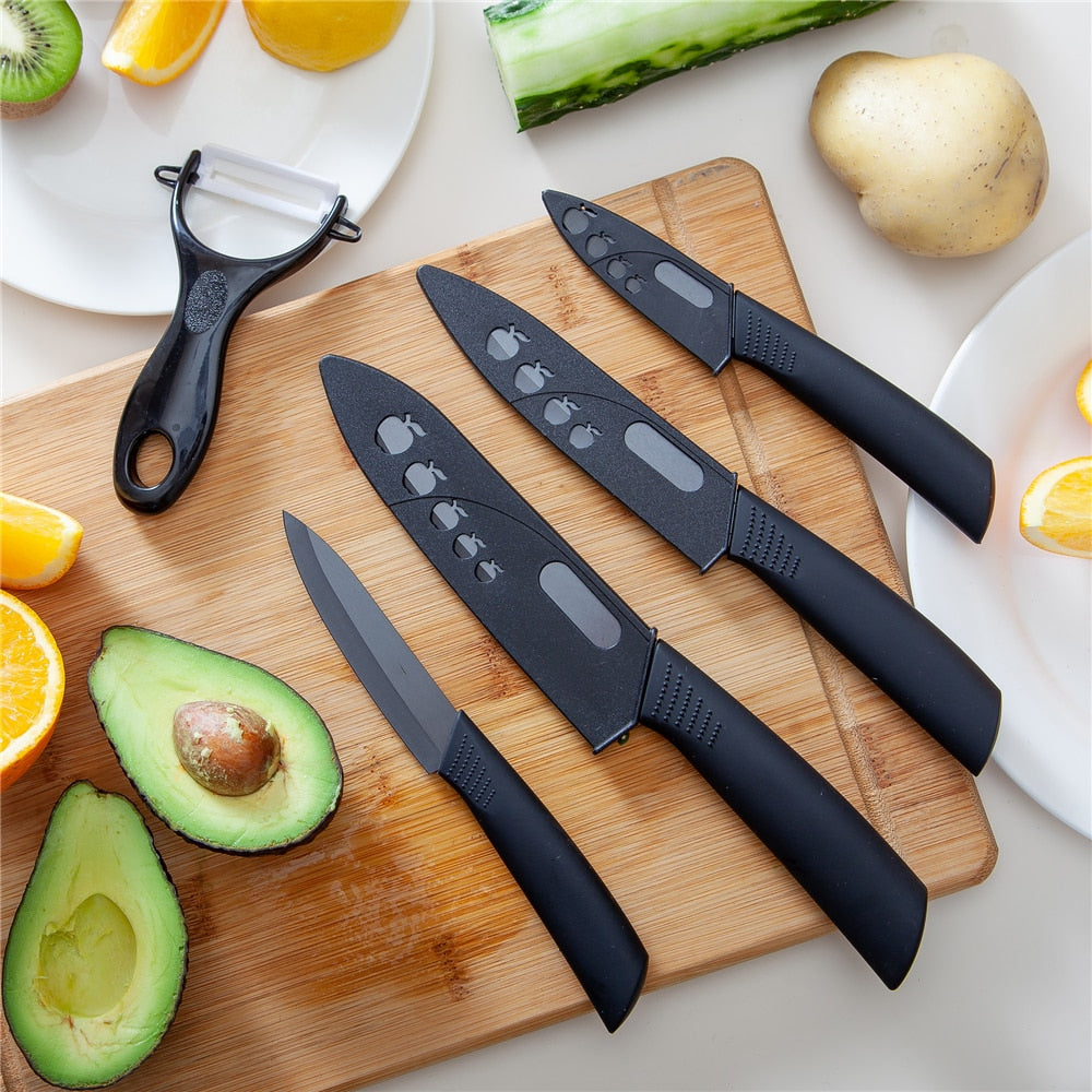 9 Piece Ceramic Knife Kitchen Set