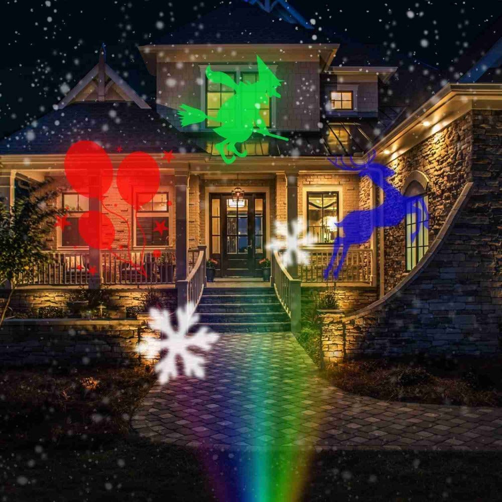 Holiday Projector Landscape Light with 12 Patterns