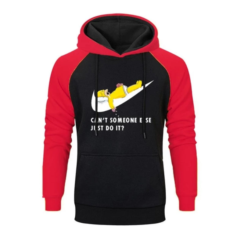 Just Break It Printed Cartoon Hooded Sweatshirt