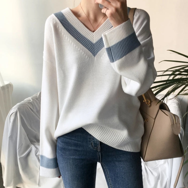 Women's Casual Minimalist Pullover Sweater