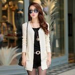 Women's Knitted Long Cardigan With Pockets