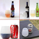 Silicone Unbreakable BPA-Free Outdoor Wine Glasses Cups