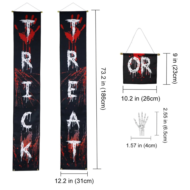 Halloween Treat Or Trick Banner Decoration