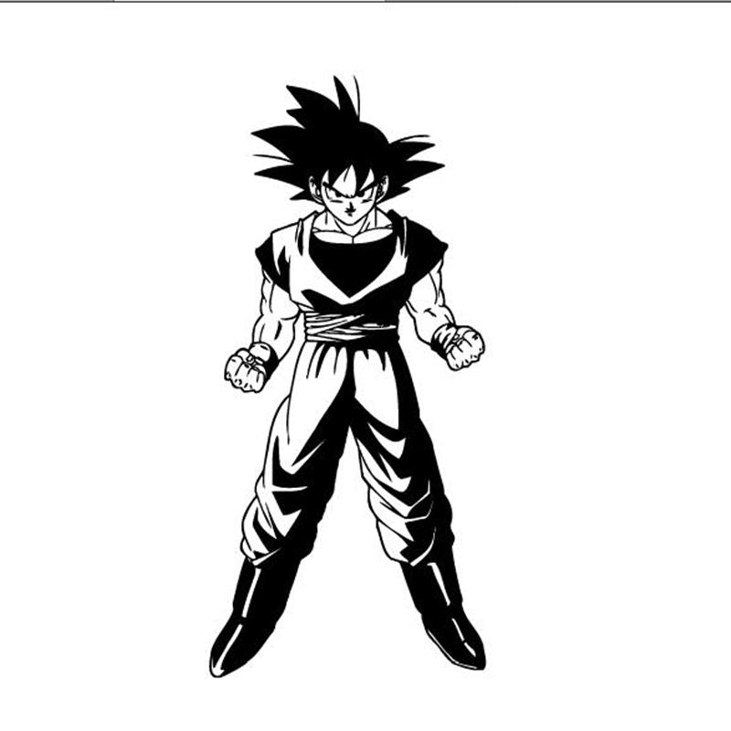 Dragon Ball Z Goku Anime Manga Decor Wall mural vinyl Decal sticker, P2064