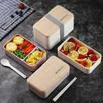 Microwave Leakproof Portable 2 Layer Wood Bento Box