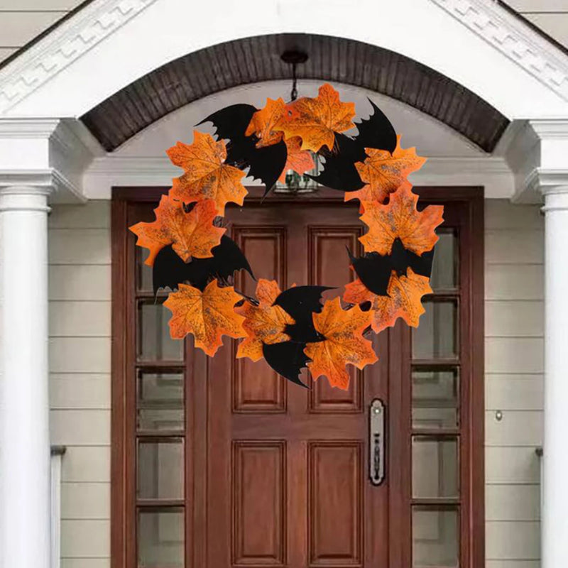 Halloween Bat Wreath Pendant Decoration Above a Door