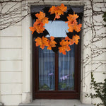 Halloween Bat Wreath Pendant Decoration Above a Window