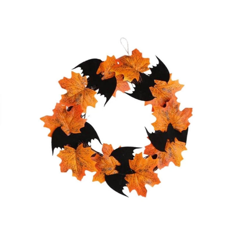 Halloween Bat Wreath Pendant Decoration