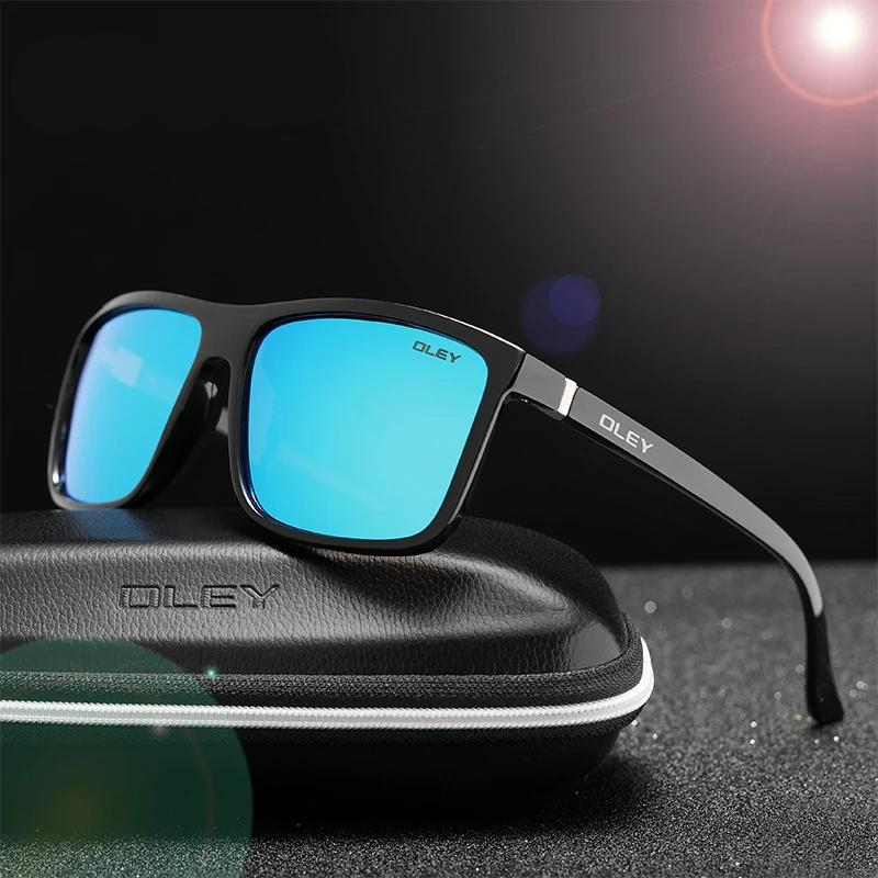 Unisex Polarized UV400 Mirror Retro Square Driving Sunglasses